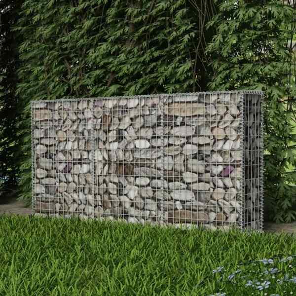 Coș gabion, 200 x 30 x 100 cm, oțel galvanizat