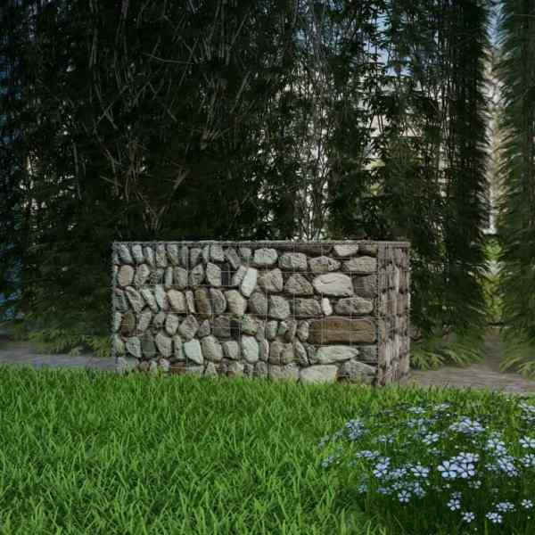 vidaXL Coș gabion, 100 x 50 x 50 cm, oțel galvanizat