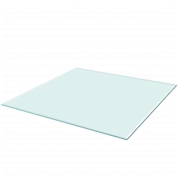 Blat de masă din sticlă securizată pătrat 700 x 700 mm