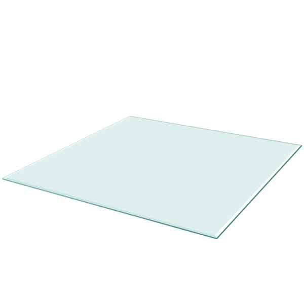 Blat de masă din sticlă securizată pătrat 800 x 800 mm