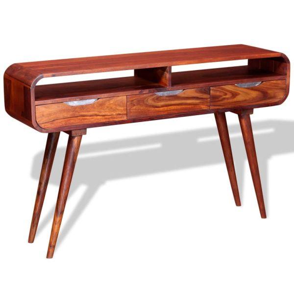 vidaXL Masa consolă din lemn masiv de sheesham, 120 x 35 x 75 cm