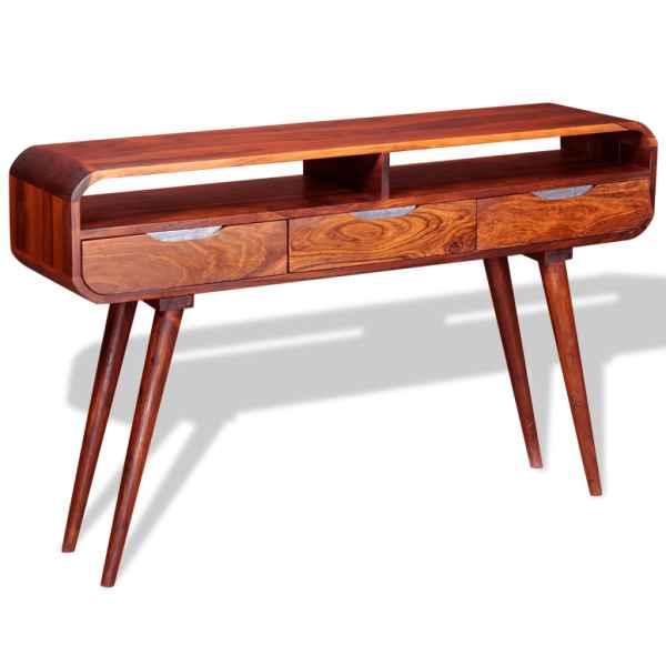 Masa consolă din lemn masiv de sheesham, 120 x 35 x 75 cm