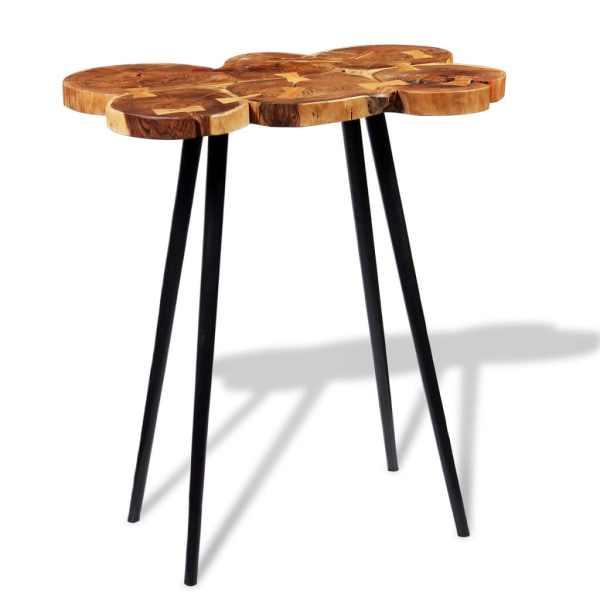 Masă bar lemn masiv de salcâm, model bușteni 90x60x110 cm