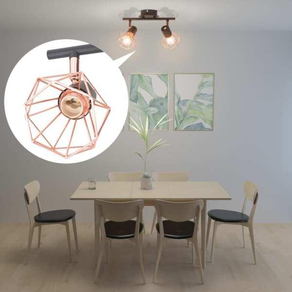 vidaXL Lustră cu 2 becuri LED cu filament, 8 W
