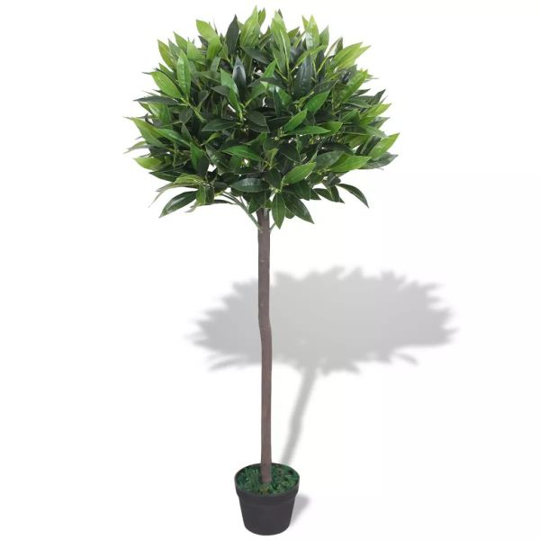 vidaXL Dafin artificial cu ghiveci, 125 cm, verde