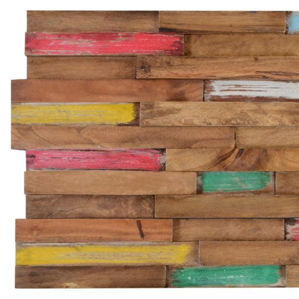 vidaXL Panouri placare pereți, 10 buc., 1m², lemn de tec