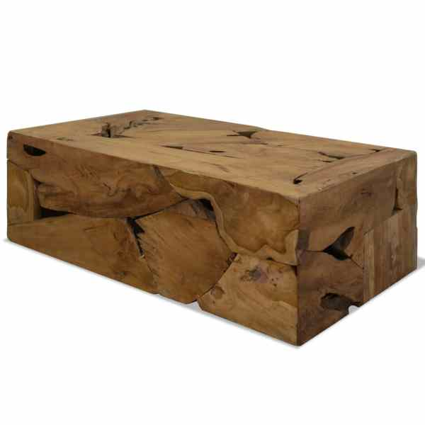 vidaXL Măsuță de cafea, 90 x 50 x 35 cm, lemn de tec natural, maro
