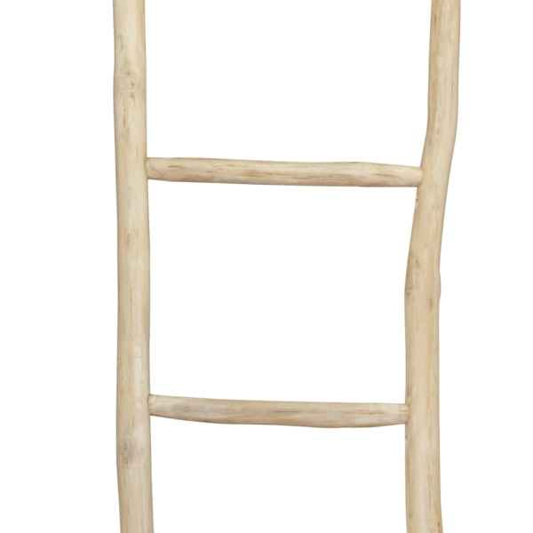 Scară prosoape cu 5 trepte, tec, 45 x 150 cm, natural