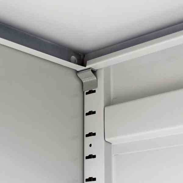 Dulap de birou din oțel, 90x40x140 cm, gri