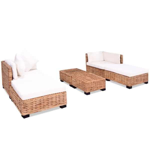 Set canapea, 16 piese, ratan natural