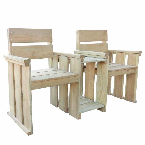 vidaXL Bancă de grădină cu 2 locuri, 150 cm, lemn de pin tratat