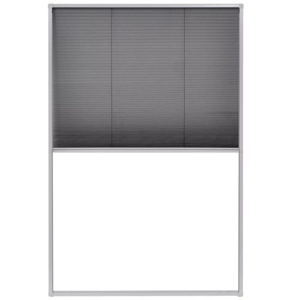 vidaXL Ecran insecte pentru ferestre, aluminiu, 80×120 cm