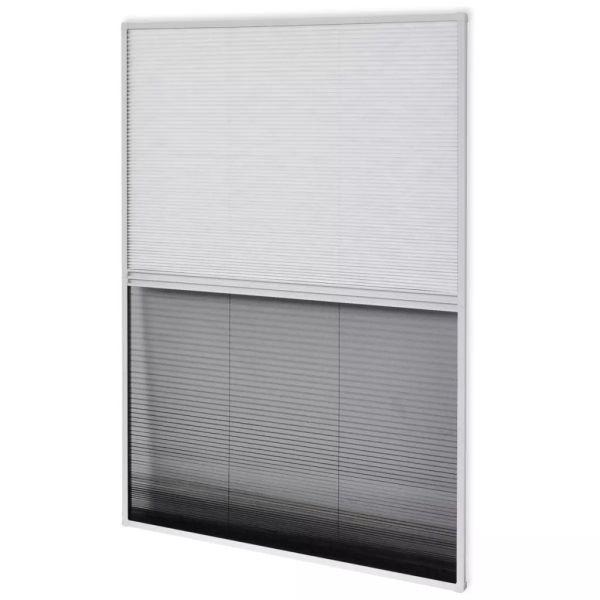 Ecran insecte pentru ferestre, cu umbrar, aluminiu, 80×120 cm