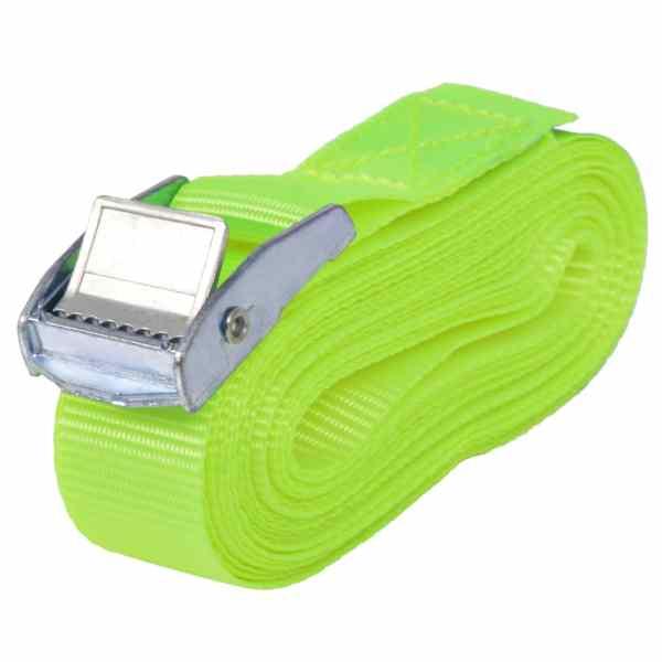 vidaXL Curele 10 buc, 0,25 tone, 5 m x 25 mm, verde fluorescent