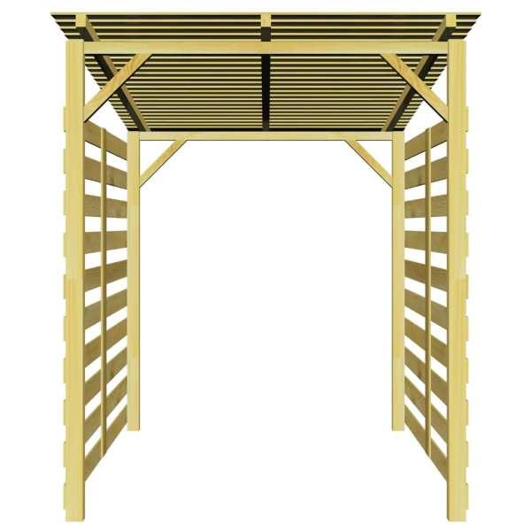 Magazie de depozitare pentru lemne de foc, lemn de pin tratat