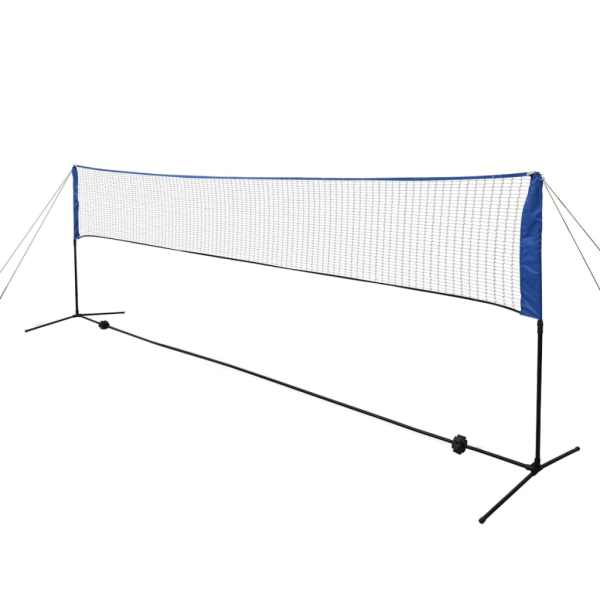 vidaXL Set fileu de badminton, cu fluturași, 500×155 cm