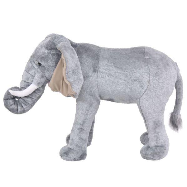 Elefant de jucărie din pluș, gri XXL