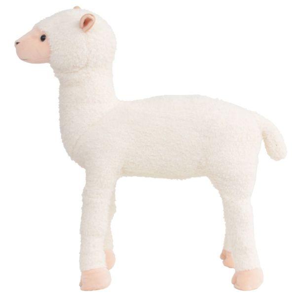 Jucărie din pluș lamă în picioare, alb, XXL