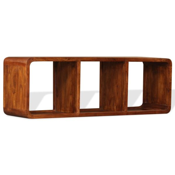 vidaXL Comodă TV, lemn masiv cu finisaj din sheesham, 120 x 30 x 40 cm