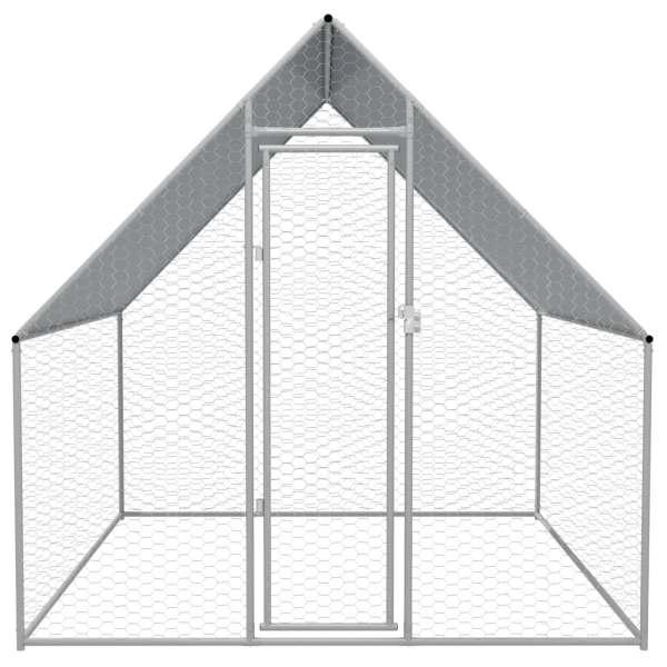 Coteț de exterior pentru păsări, 2x2x1,94 m, oțel galvanizat