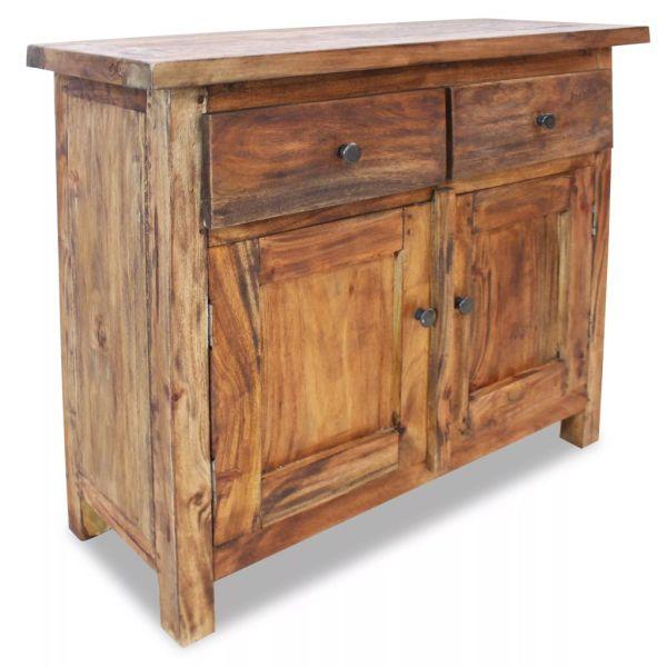vidaXL Bufet din lemn masiv reciclat, 75 x 30 x 65 cm