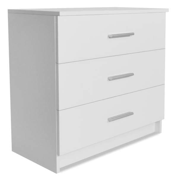 Comodă cu sertare PAL, 71 x 35 x 69 cm, alb