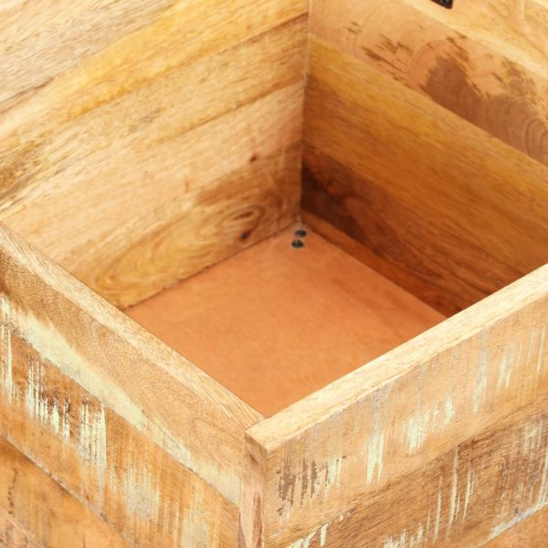 vidaXL Bancă de depozitare, lemn masiv reciclat, 40 x 40 x 45 cm