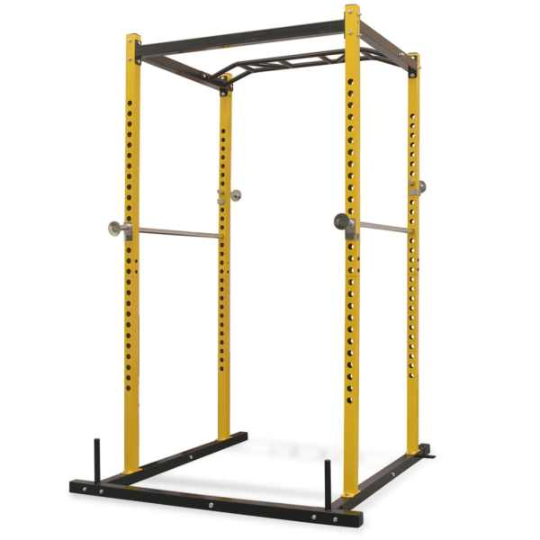 vidaXL Cadru metalic exerciții forță, 140x145x214 cm, galben și negru