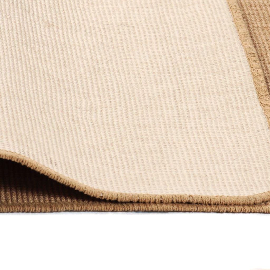 Covor de iută cu spate din latex, 80 x 160 cm, natural