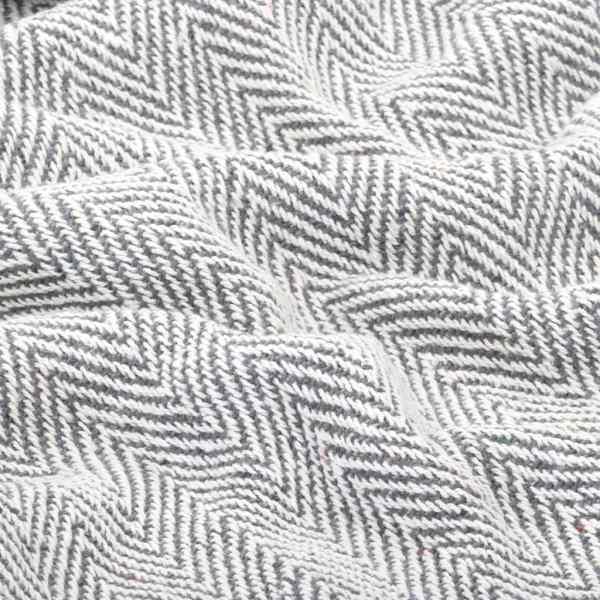 vidaXL Pătură decorativă model spic, bumbac, 220 x 250 cm, gri