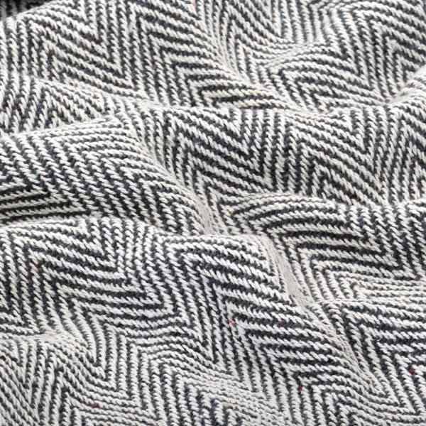 vidaXL Pătură decorativă model spic, bumbac, 160 x 210 cm, bleumarin