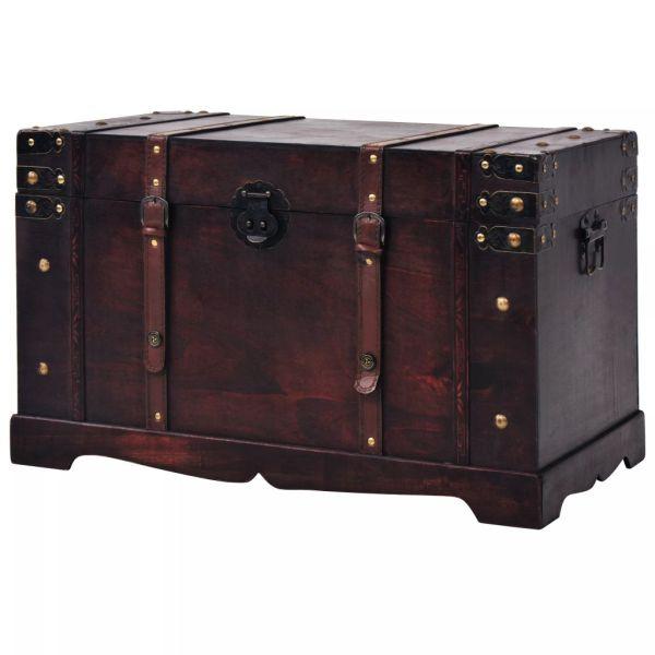 Cufăr vintage din lemn, 66 x 38 x 40 cm