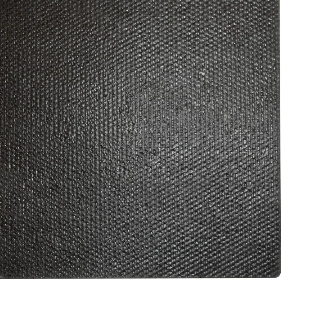vidaXL Covor de ușă, fibră de nucă cocos, 17 mm, 100 x 200 cm, negru