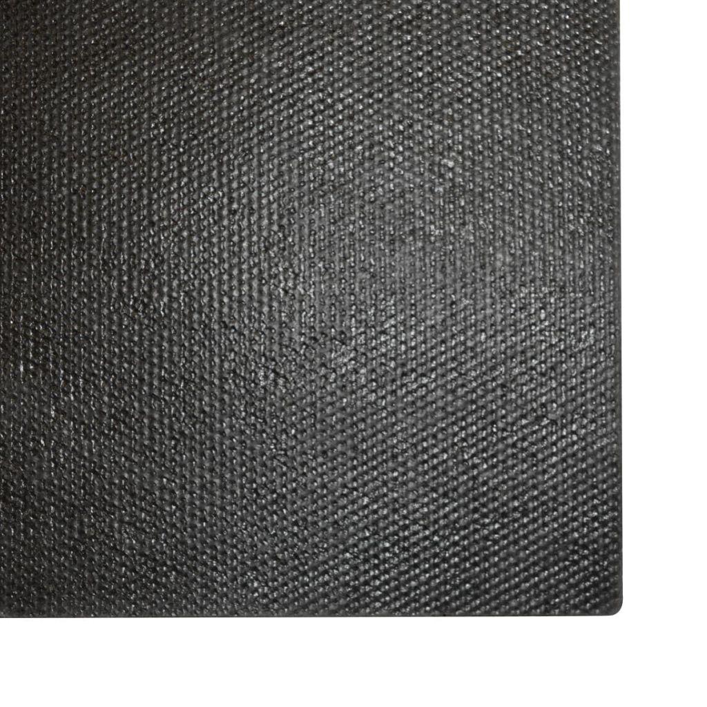 Covoare de ușă, fibră nucă cocos, 2 buc, 24 mm, 50×80 cm, negru