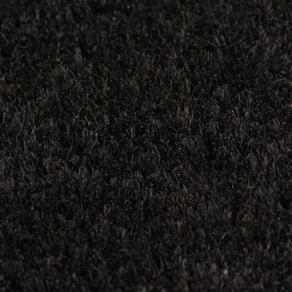 vidaXL Covor intrare, fibră de nucă cocos, 24 mm 100×100 cm Negru