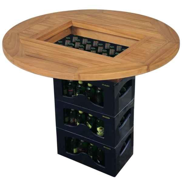 vidaXL Blat de masă pentru lada de bere, 70 cm, lemn de tec