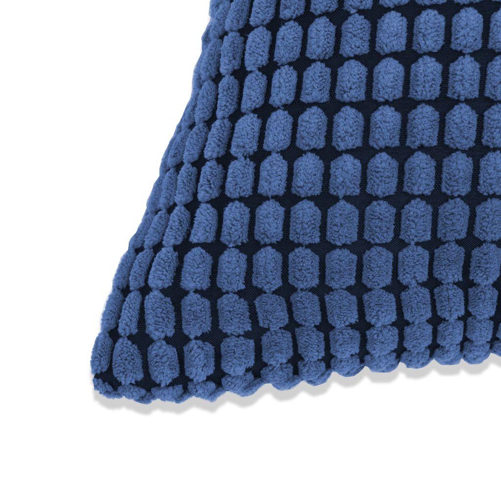 Set perne decorative 2 buc. Velur 45 x 45 cm Albastru