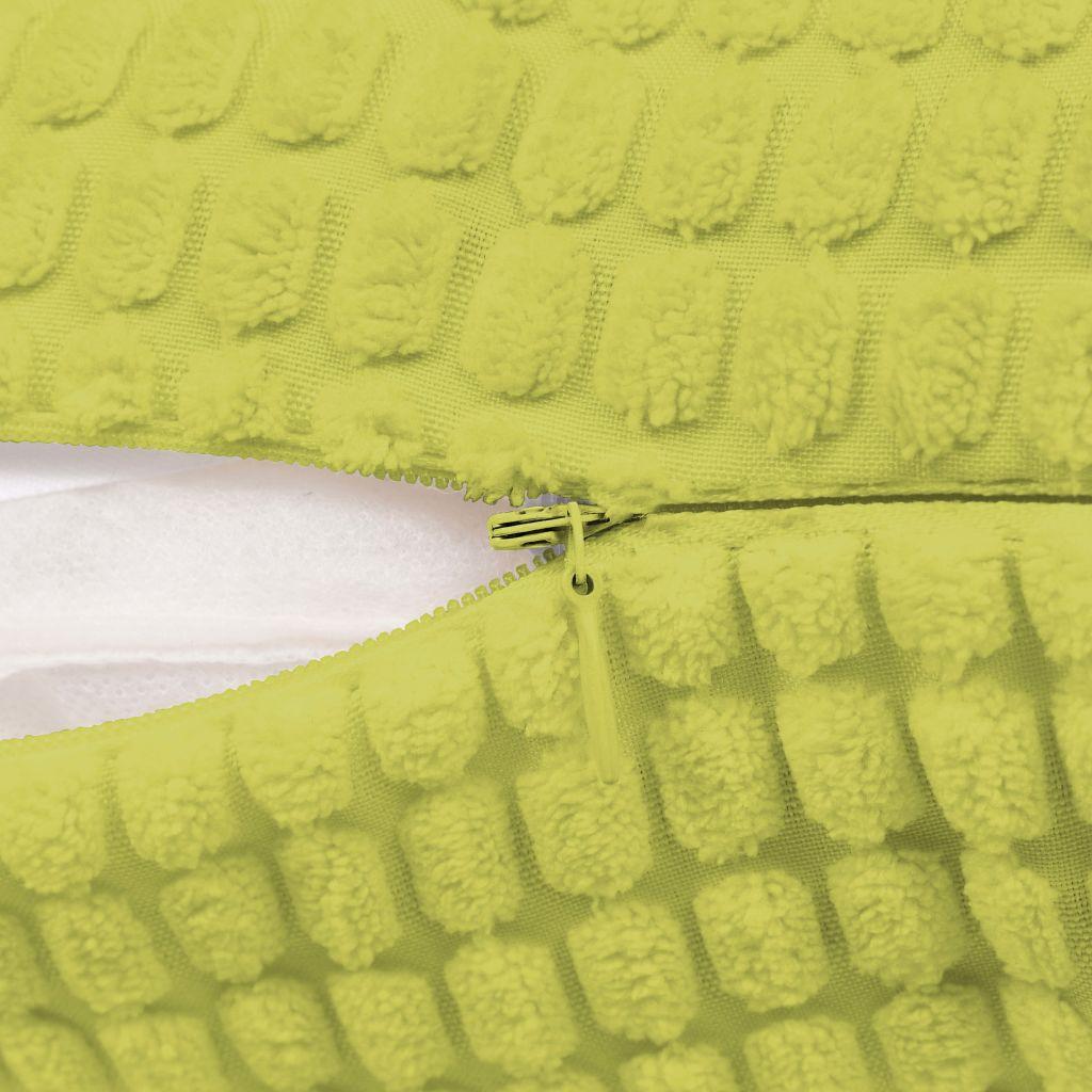 Set perne decorative 2 buc. Velur 60 x 60 cm Verde
