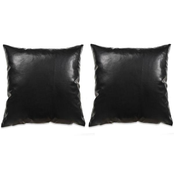 vidaXL Set perne decorative 2 buc. Poliuretan 60×60 cm Negru