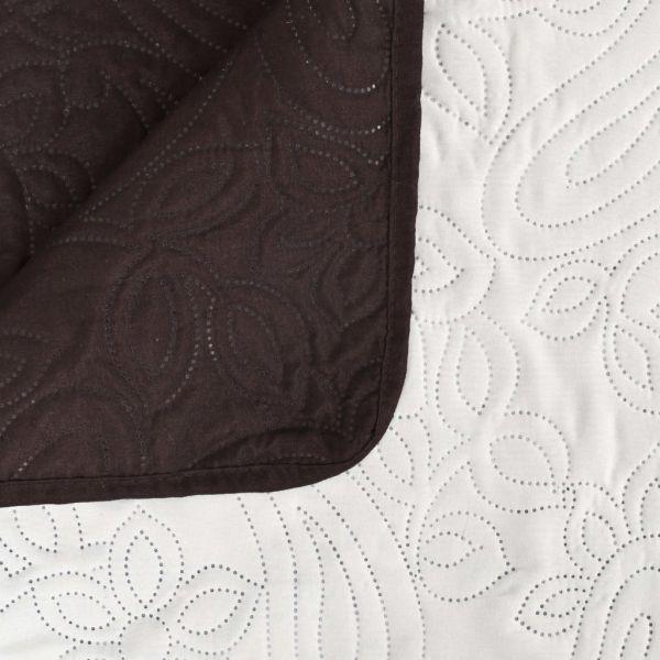 vidaXL Cuvertură matlasată cu două fețe, 170×210 cm, crem și maro