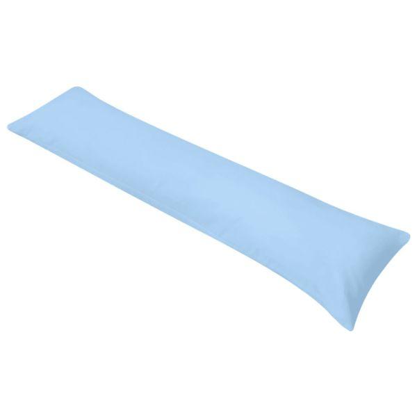 vidaXL Pernă laterală de corp pentru dormit, 40 x 145 cm, albastru