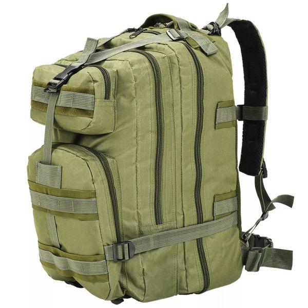 vidaXL Rucsac în stil militar, 50 L, verde măsliniu