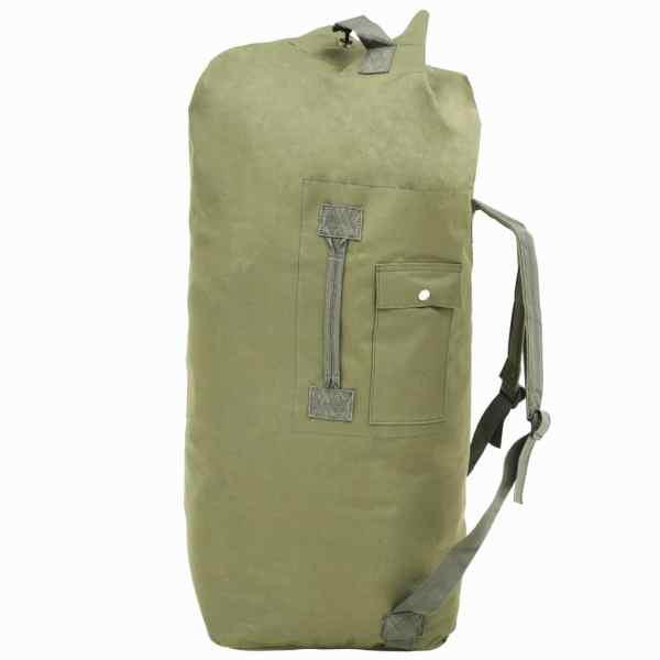 vidaXL Rucsac în stil militar, 85 L, verde măsliniu