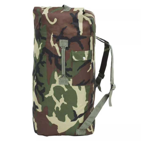 vidaXL Rucsac în stil militar, 85 L, camuflaj