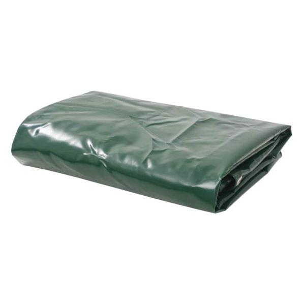 vidaXL Prelată 650 g/m² 4 x 4 m Verde