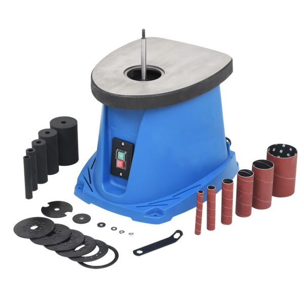 vidaXL Mașină de șlefuit cu ax oscilant, 450 W, albastru