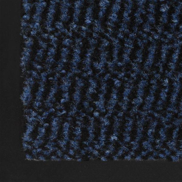 vidaXL Covor de ușă anti-praf, dreptunghiular, 40 x 60 cm, albastru