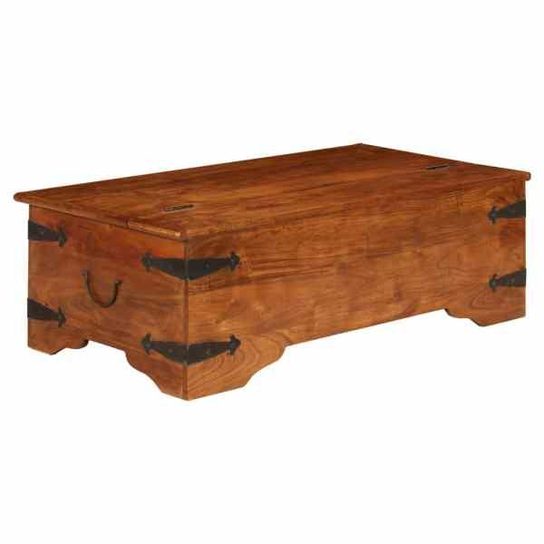 vidaXL Masă de cafea 110x55x35 cm, lemn masiv acacia, finisaj sheesham