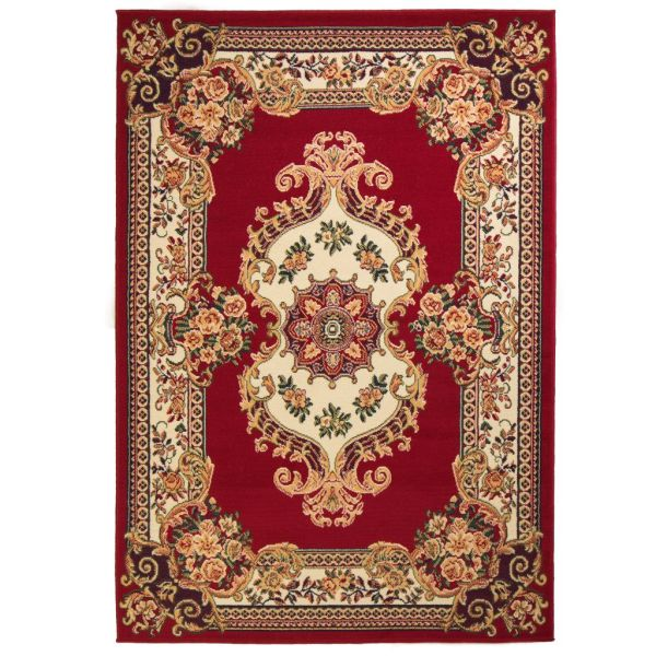vidaXL Covor oriental, roșu/bej, 120 x 170 cm
