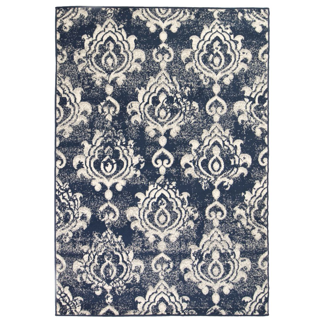 vidaXL Covor modern design Paisley, 140 x 200 cm, bej/albastru